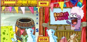 juegos de bob esponja en la feria basket