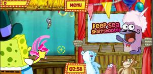 juegos de bob esponja en la feria deep