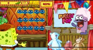 juegos de bob esponja en la feria puffer