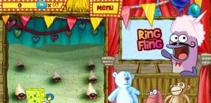 juegos de bob esponja en la feria ring