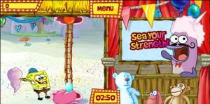 juegos de bob esponja en la feria sea your