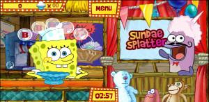 juegos de bob esponja en la feria sundae