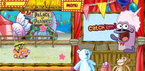 juegps de bob esponja en la feria catch