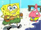 Juegos de Bob esponja y patricio en la playa